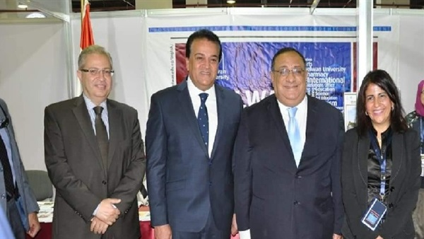 Helwan University has been involved in the Fourth International Exhibition for Higher Education